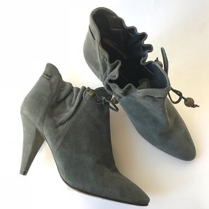 Lulu Guinness Peace Suede drawstring bootie boot